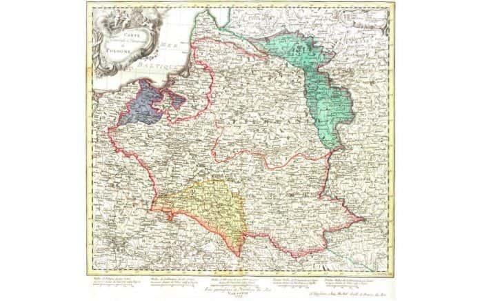 mapa rzeczpospolita 1773